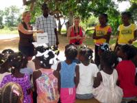 Teaching English at Bible Camp