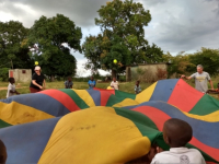 Bible Club parachute fun