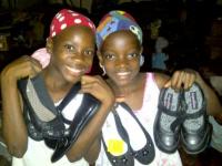 Haiti Shoe Collection Arrive in Haiti 2012
