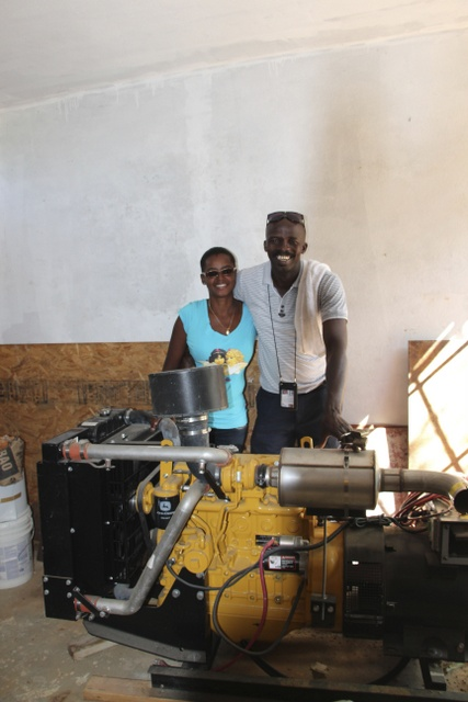 Joseph and Gentila in generator room