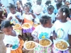 Feeding the children each day at bible camp