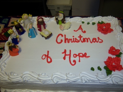 Christmas cake that the kids all enjoyed