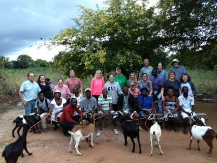 9 Families received goats