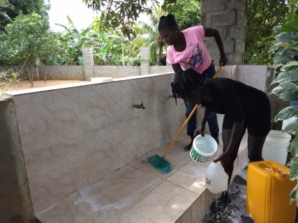 Cleaning Clean Water area