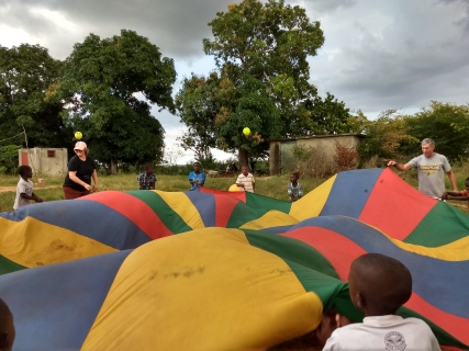 Bible Club parachute fun