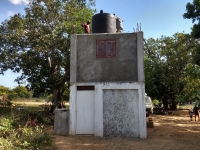 New cistern now on top of generator house