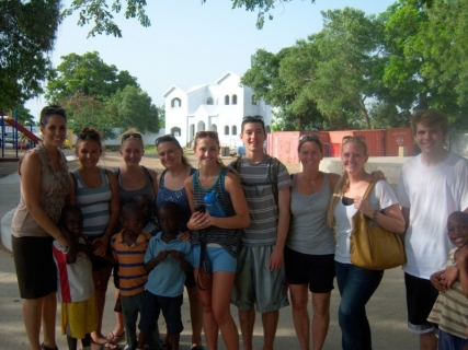 Group shot at Danita's orphanage