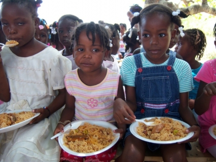 Each child received a meal at Bible Camp