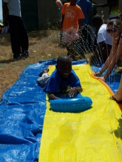 Introducing a slip & slide was very funny!