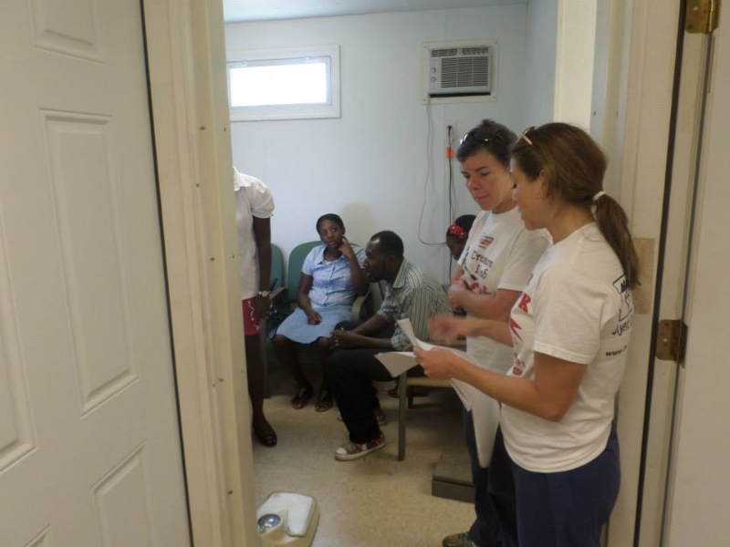 Inside the medical clinic