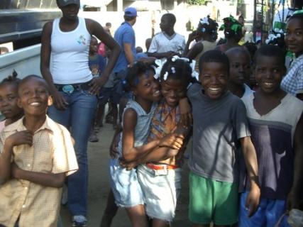 235 children laughing on land