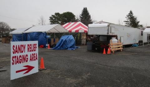 Sandy Relief Center in Brick